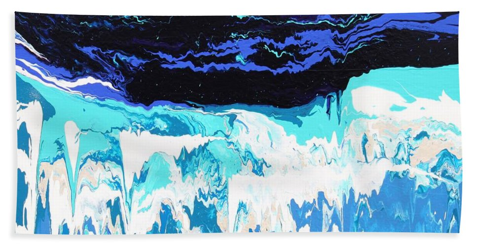 Fusionart Hand Towel featuring the painting Niagara by Ralph White
