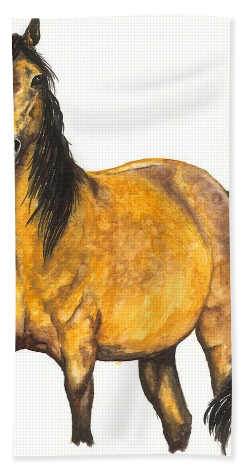 Horse Hand Towel featuring the painting Nifty by Kristen Wesch