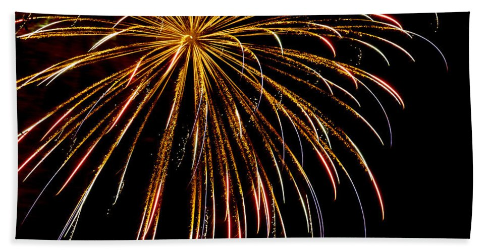 July 4th Hand Towel featuring the photograph Night Colors by Phill Doherty