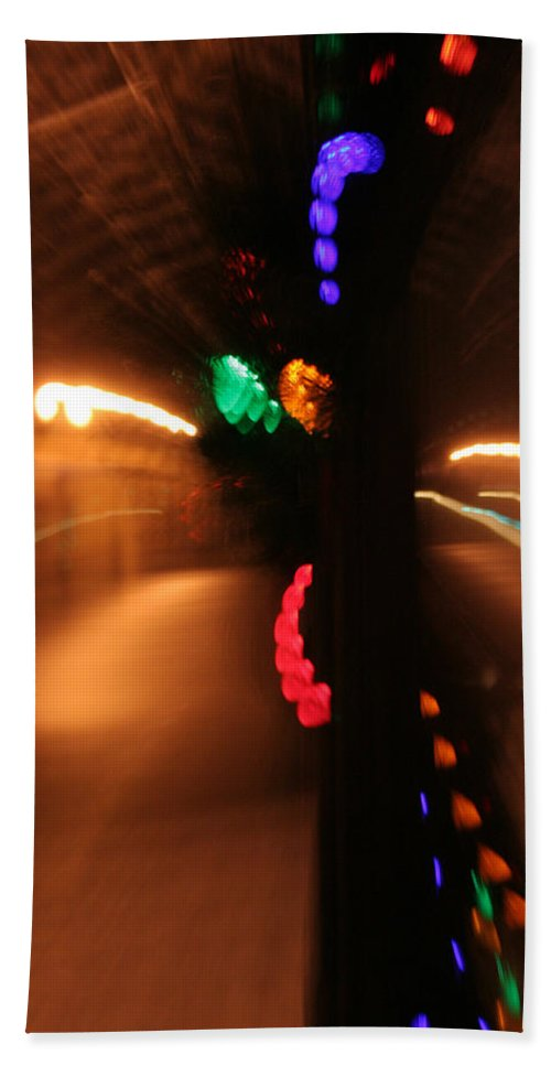 Abstract Hand Towel featuring the photograph Night Diptych 2 by Ric Bascobert