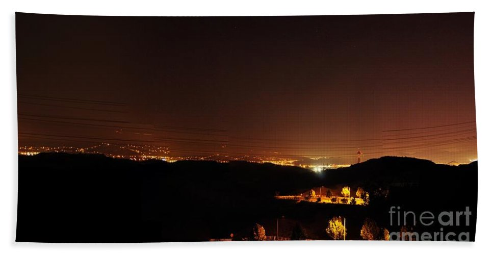 Clay Bath Sheet featuring the photograph Night Glow by Clayton Bruster