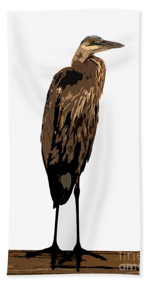 Yellow Crowned Night Heron Bath Towel featuring the photograph Night Heron by David Lee Thompson