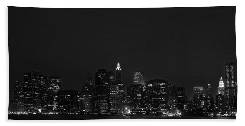 Bridge Hand Towel featuring the photograph Night Lights by Evelina Kremsdorf