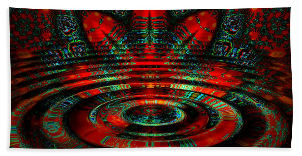 Ripple Bath Sheet featuring the digital art Night Moves by Robert Orinski