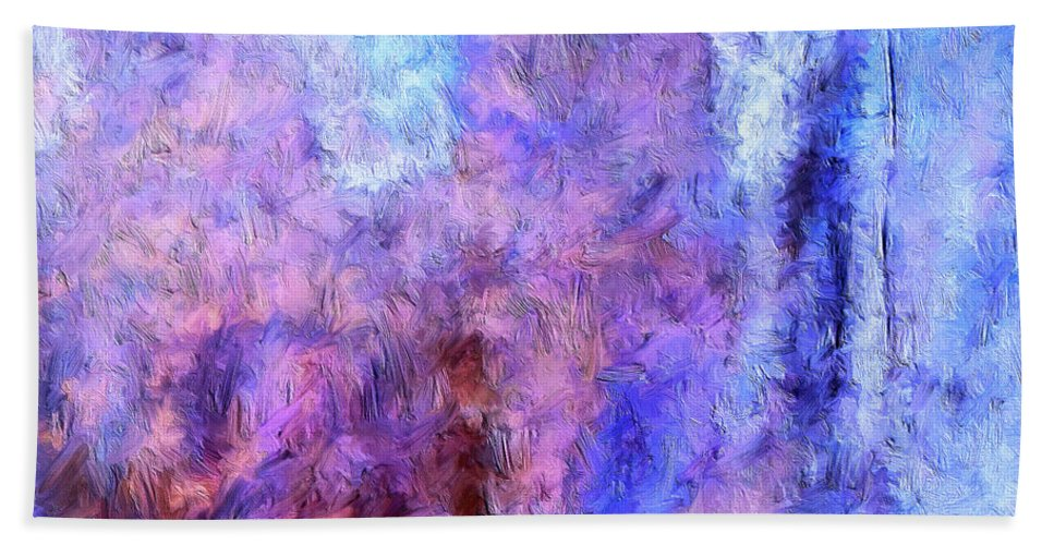 Abstract Hand Towel featuring the painting Night Parade by Dominic Piperata
