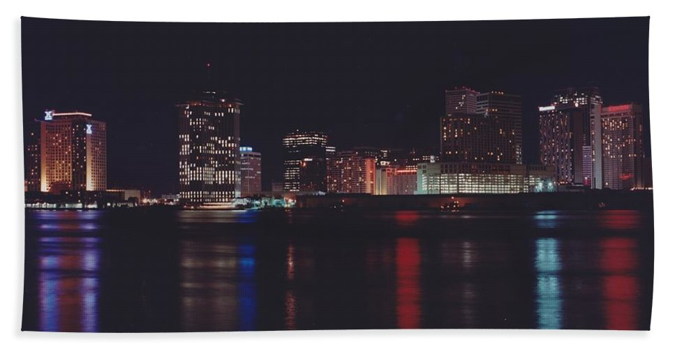 Night Scape Hand Towel featuring the photograph Night Scape by Michelle Powell