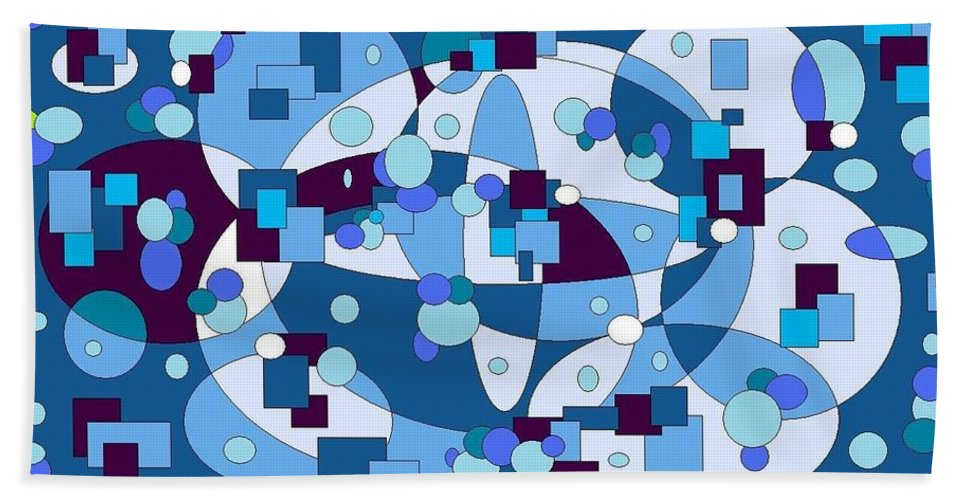 Digital Artwork Bath Sheet featuring the digital art Nightall by Jordana Sands