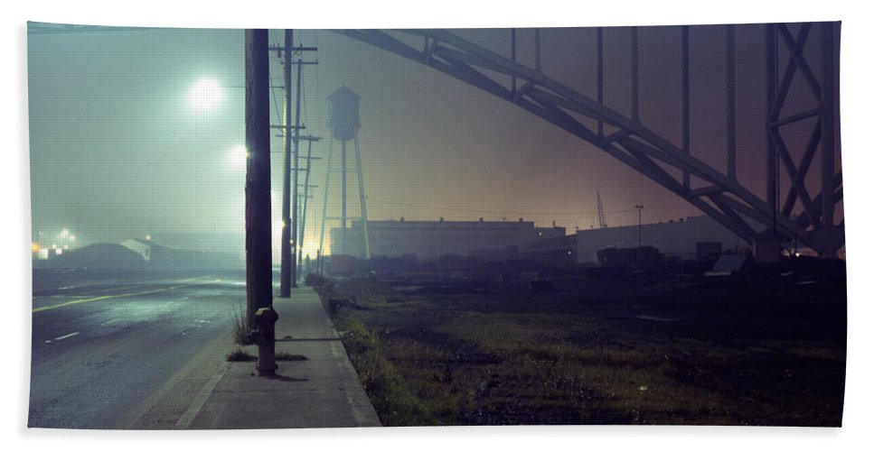 Night Photo Hand Towel featuring the photograph Nightscape 2 by Lee Santa