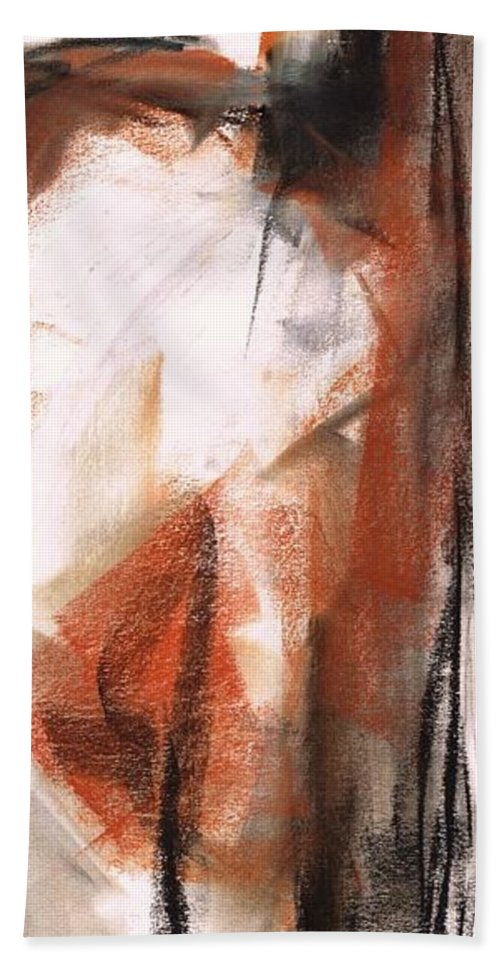 Equine Art Bath Sheet featuring the painting The Horse Within by Frances Marino
