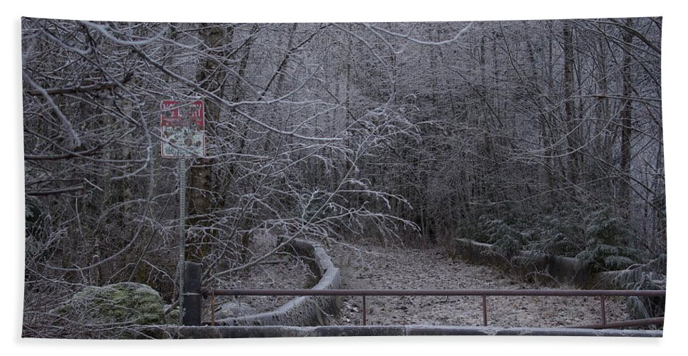 No Hand Towel featuring the photograph No Entry by Cindy Johnston