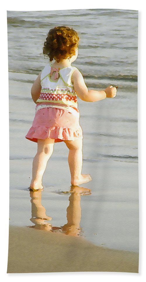 Beach Bath Towel featuring the photograph No Fear by Margie Wildblood