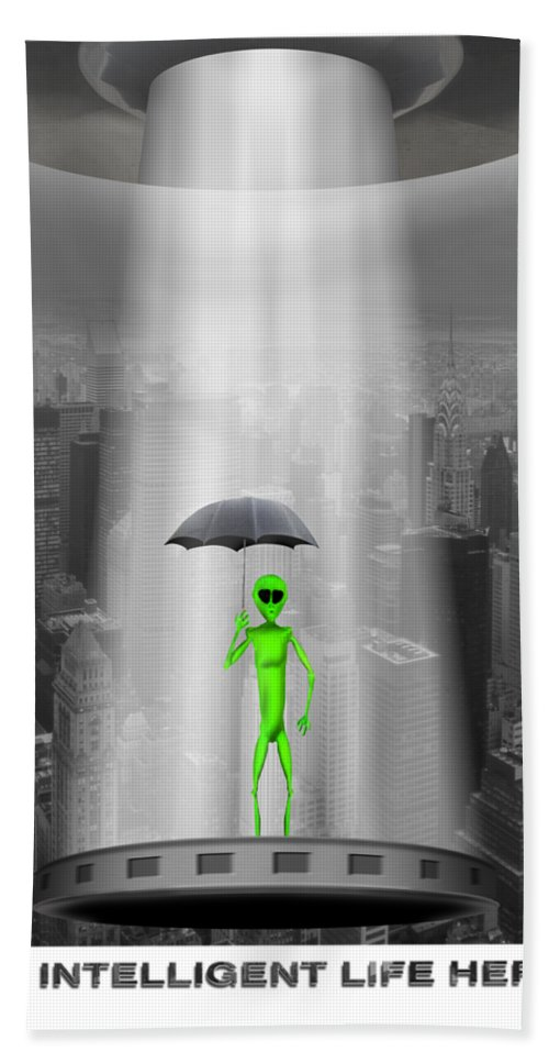 T-shirt Hand Towel featuring the photograph No Intelligent Life Here 2 by Mike McGlothlen