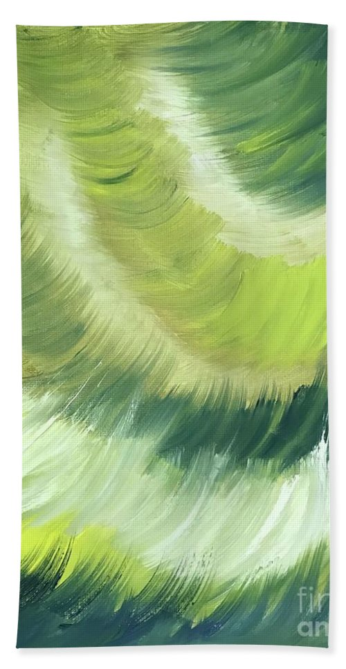Abstract Bath Towel featuring the painting No Strings Attached by Sheila Mashaw