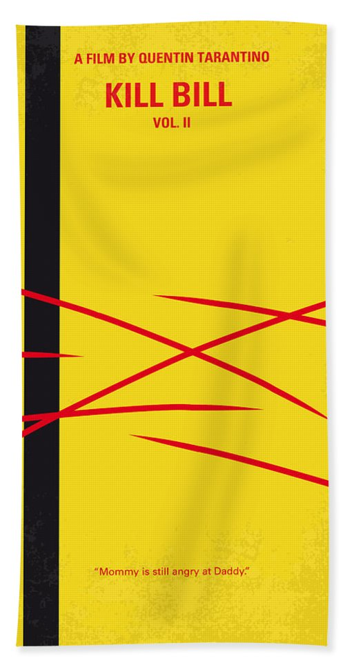 Kill Bill Hand Towel featuring the digital art No049 My Kill Bill-part2 Minimal Movie Poster by Chungkong Art