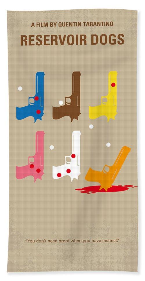 Reservoir Bath Towel featuring the digital art No069 My Reservoir Dogs Minimal Movie Poster by Chungkong Art