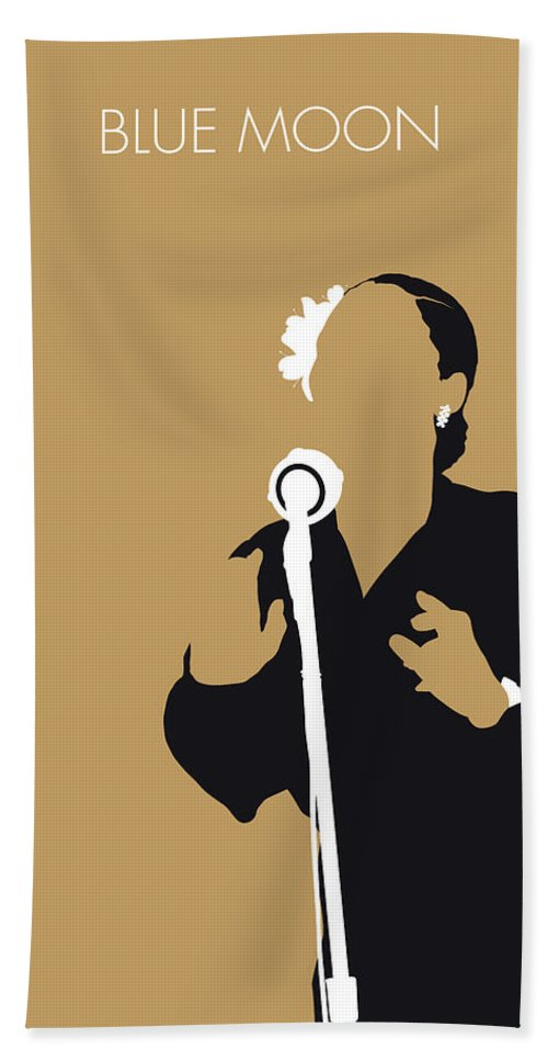 Billie Hand Towel featuring the digital art No090 My Billie Holiday Minimal Music Poster by Chungkong Art