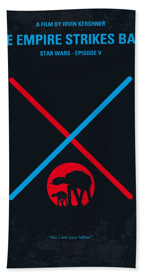 Star Bath Towel featuring the digital art No155 My STAR WARS Episode V The Empire Strikes Back minimal movie poster by Chungkong Art