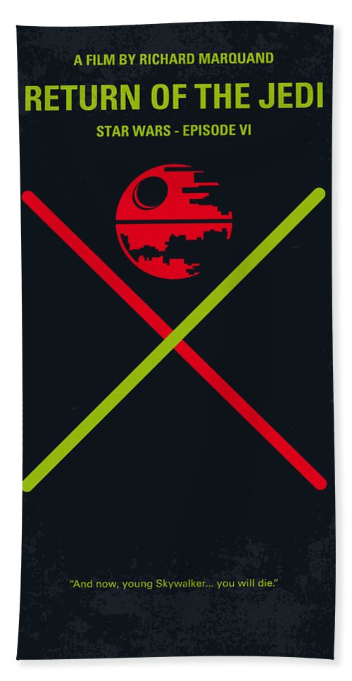 Star Bath Towel featuring the digital art No156 My STAR WARS Episode VI Return of the Jedi minimal movie poster by Chungkong Art