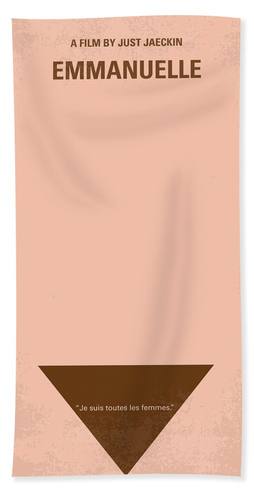Emanuelle Hand Towel featuring the digital art No160 My Emmanuelle Minimal Movie Poster by Chungkong Art