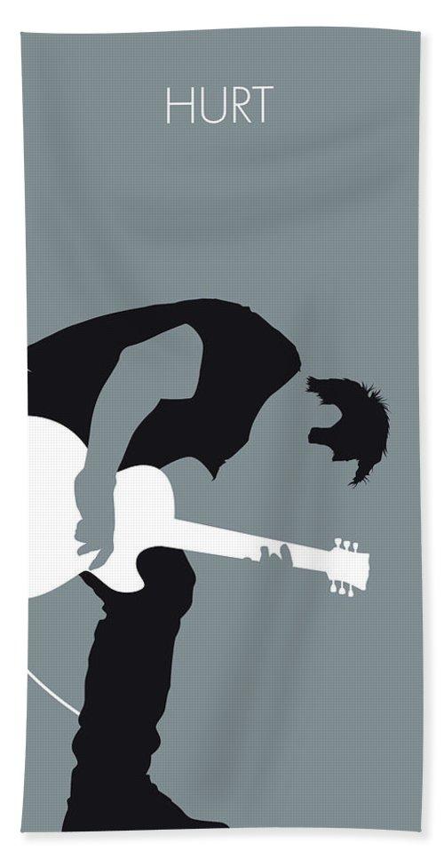 Nine Bath Towel featuring the digital art No197 My Nine Inch Nails Minimal Music Poster by Chungkong Art