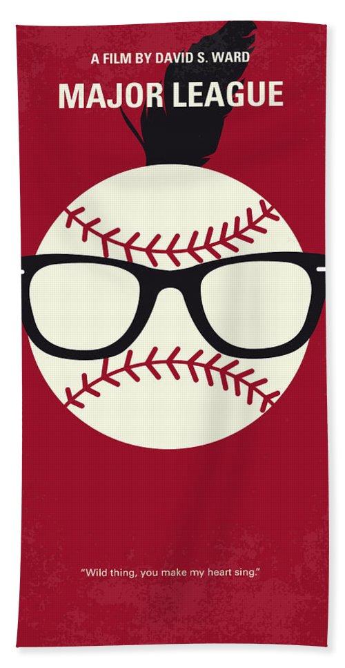 Major Hand Towel featuring the digital art No541 My Major League Minimal Movie Poster by Chungkong Art
