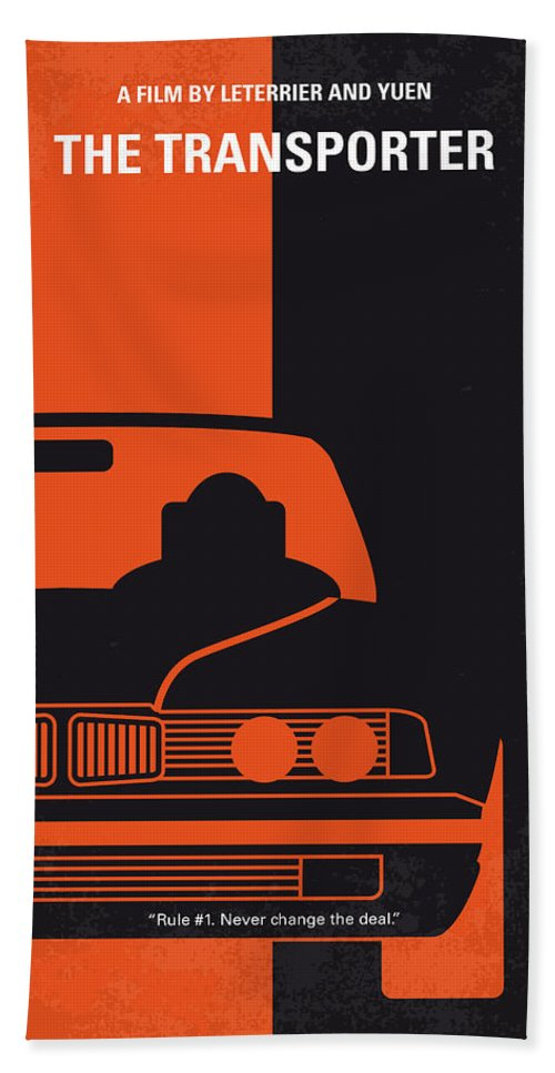 Transporter Hand Towel featuring the digital art No552 My The Transporter Minimal Movie Poster by Chungkong Art