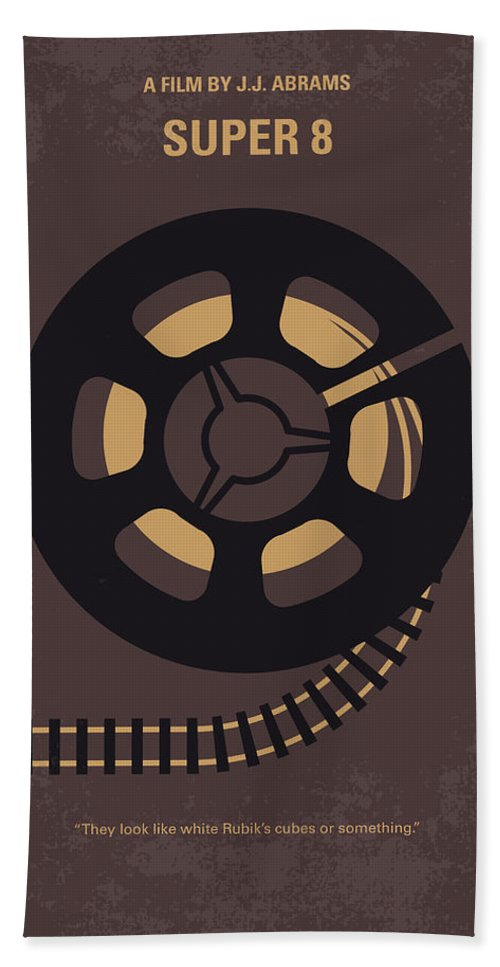 Super Hand Towel featuring the digital art No578 My Super 8 Minimal Movie Poster by Chungkong Art