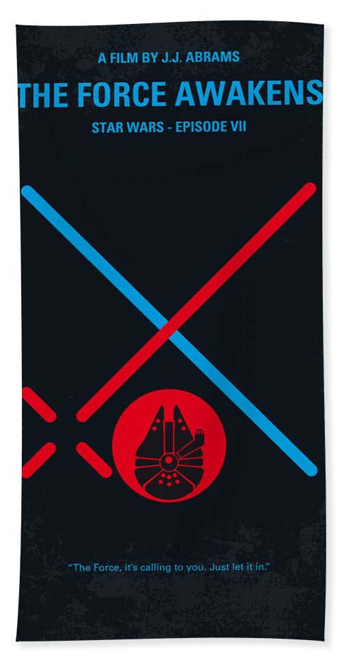 Star Bath Towel featuring the digital art No591 My Star Wars Episode Vii The Force Awakens Minimal Movie Poster by Chungkong Art