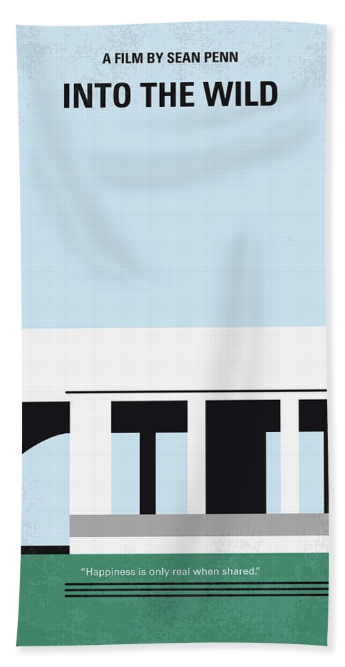 Into Hand Towel featuring the digital art No677 My Into The Wild Minimal Movie Poster by Chungkong Art