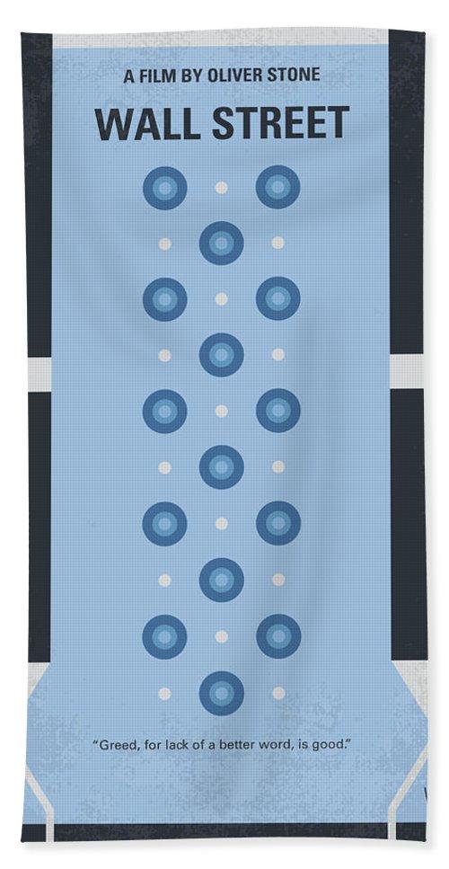 Wall Hand Towel featuring the digital art No683 My Wall Street Minimal Movie Poster by Chungkong Art