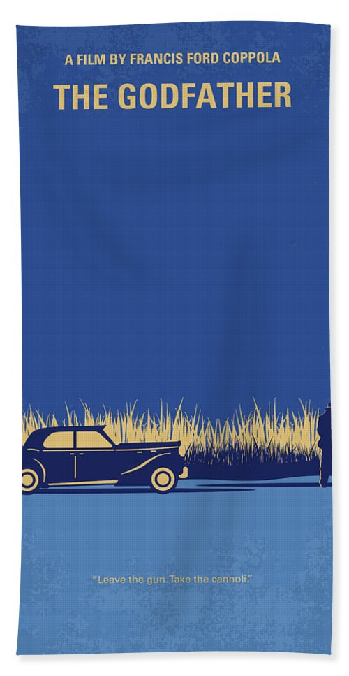 The Bath Towel featuring the digital art No686-1 My Godfather I minimal movie poster by Chungkong Art