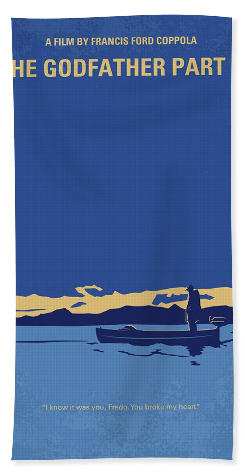 The Hand Towel featuring the digital art No686-2 My Godfather II minimal movie poster by Chungkong Art