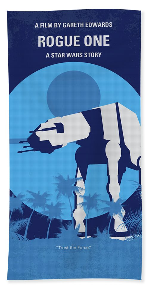 Rogue Bath Towel featuring the digital art No819 My Rogue One Minimal Movie Poster by Chungkong Art
