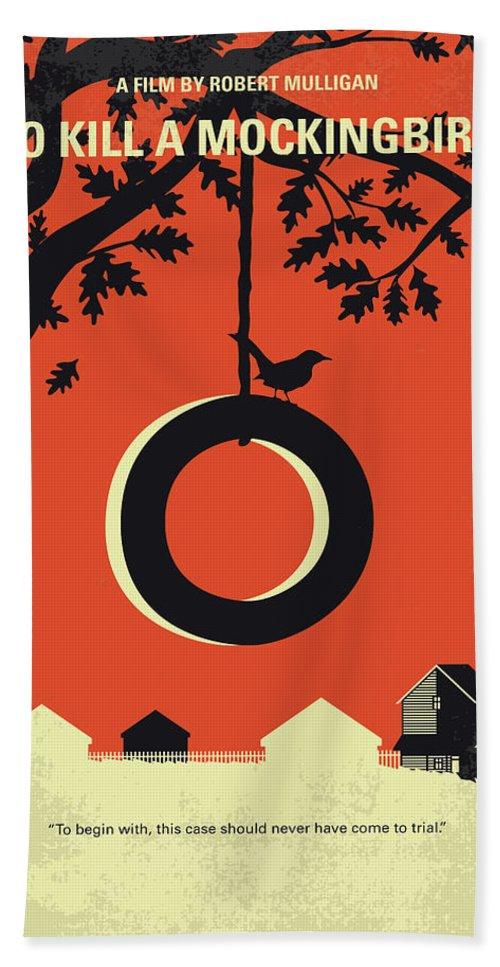 To Bath Towel featuring the digital art No844 My To Kill a Mockingbird minimal movie poster by Chungkong Art