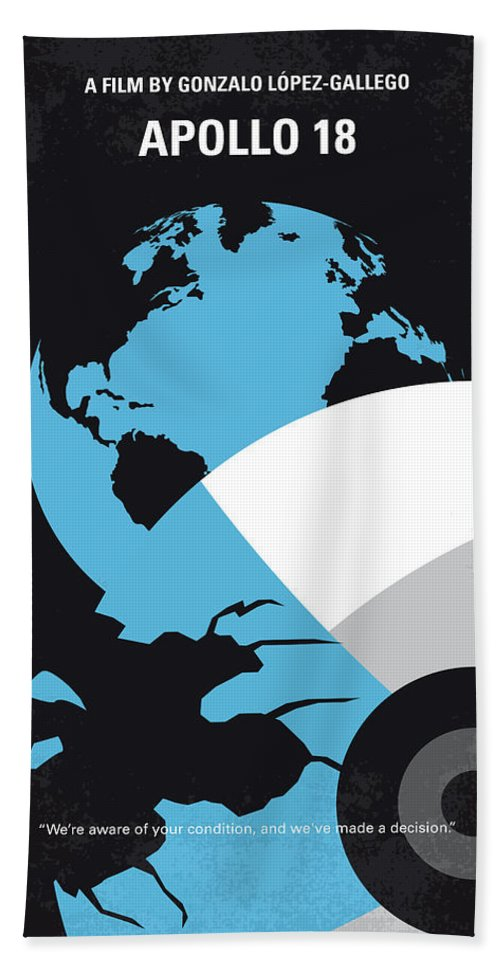 Apollo Hand Towel featuring the digital art No873 My Apollo 18 Minimal Movie Poster by Chungkong Art