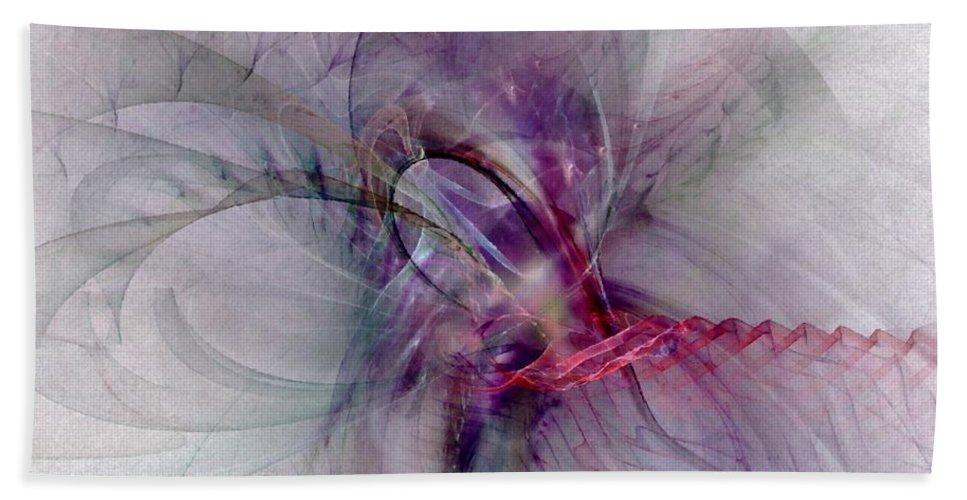 Spiritual Hand Towel featuring the digital art Nobility Of Spirit - Fractal Art by NirvanaBlues