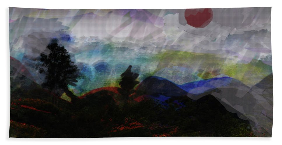 Africa Bath Sheet featuring the mixed media Noche Equatorial by Paul Sutcliffe