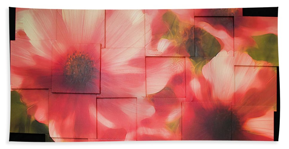 Flower Bath Sheet featuring the sculpture Nocturnal Pinks Photo Sculpture by Michael Bessler