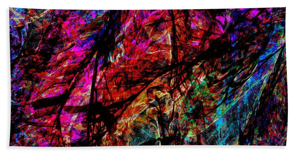 Noise Visualized Art By Dedric Ipad App Procreate Beautiful Colorful Colors Chakras 7 Tones Notes America Atlanta Black African Illustration Sound Scape Cover Bath Sheet featuring the digital art Noise by Dedric Artlove W