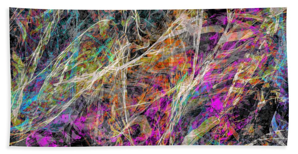 Digital Art By Dedric Abstract App Procreate Ipad Colorful Dark Sound Noise Scape Illustration America Atlanta Beautiful Beautify Beauty Bath Sheet featuring the digital art Noise No.3 by Dedric Artlove W