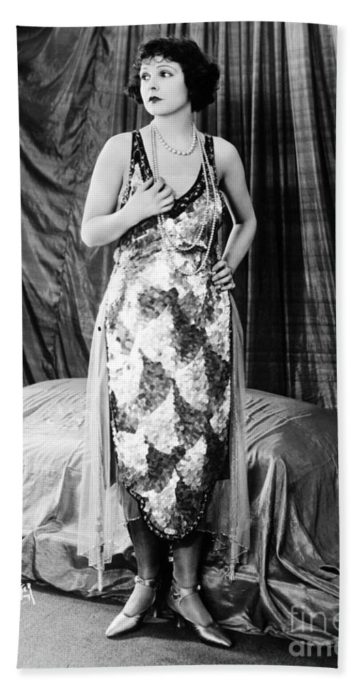 Norma Talmadge Bath Sheet featuring the photograph Norma Talmadge by Sad Hill - Bizarre Los Angeles Archive
