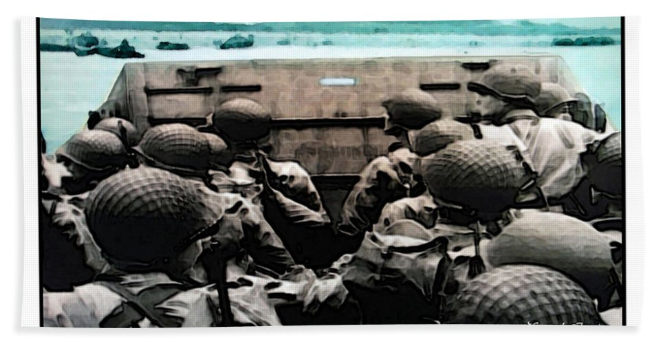 American Hand Towel featuring the photograph Normandy Soldiers by Joan Minchak