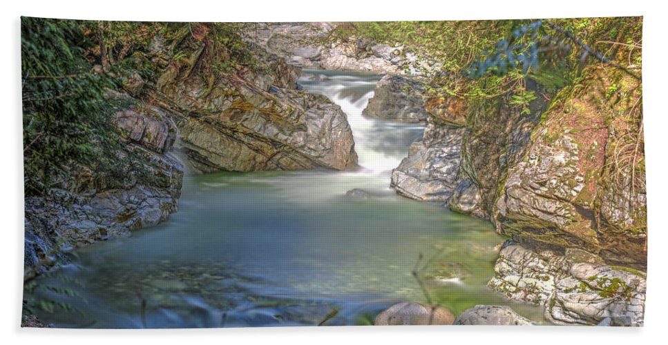 Norrish Creek Hand Towel featuring the photograph Norrish Creek by Rod Wiens