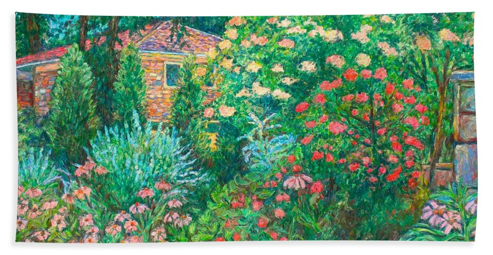 Garden Hand Towel featuring the painting North Albemarle In Mclean Va by Kendall Kessler