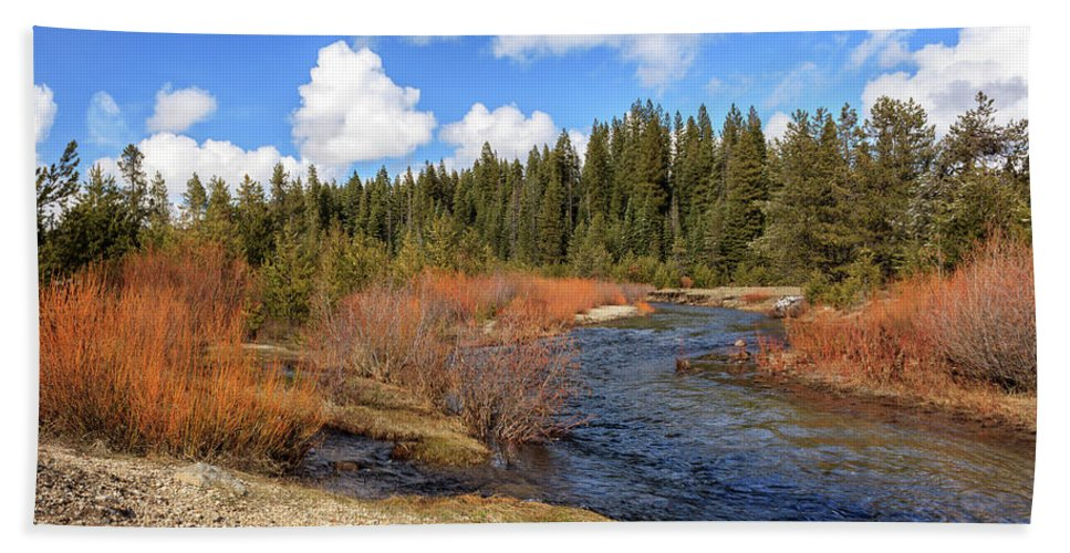Creek Hand Towel featuring the photograph North Fork Deer Creek by James Eddy