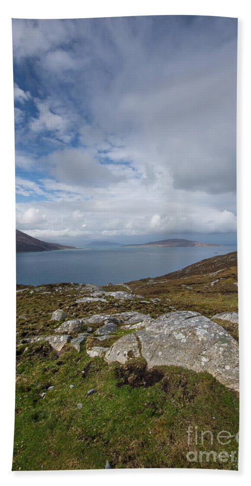 Isle Of Harris Hand Towel featuring the photograph North Harris Views by Smart Aviation