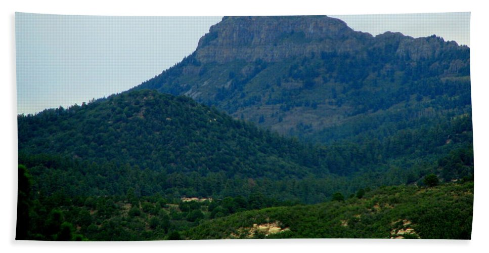 Patzer Hand Towel featuring the photograph North Of Santa Fe by Greg Patzer