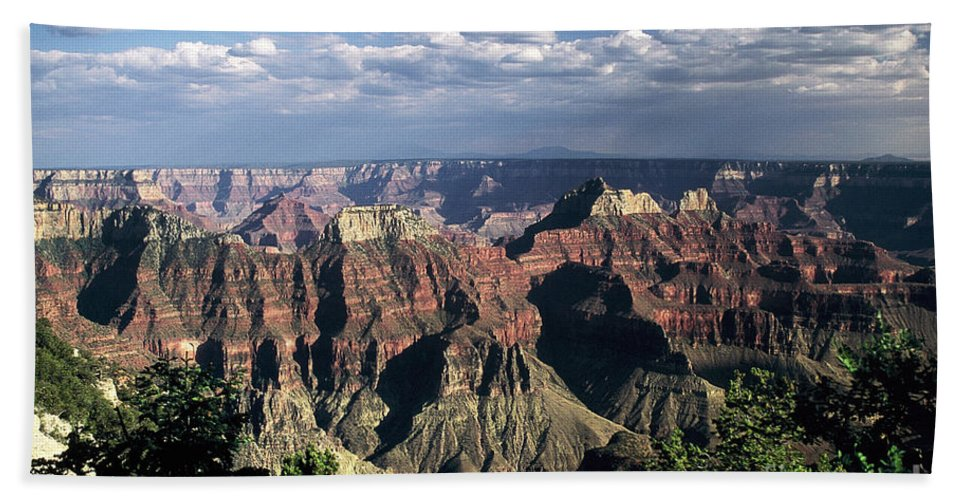 Grand Canyon; National Parks Hand Towel featuring the photograph North Rim by Kathy McClure