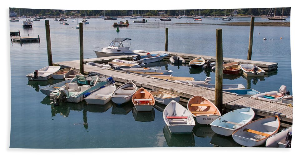 Travel Hand Towel featuring the photograph Northeast Harbor Maine by Louise Heusinkveld