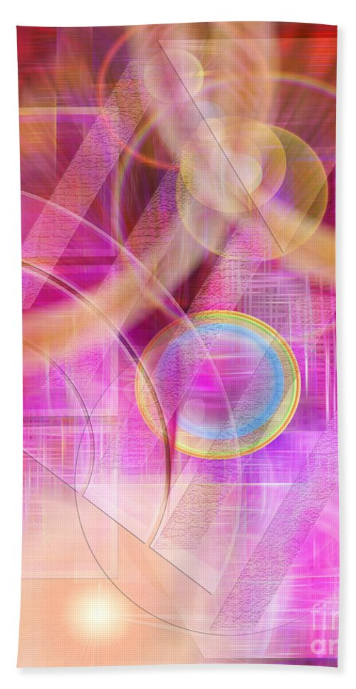 Northern Lights Bath Sheet featuring the digital art Northern Lights by John Beck